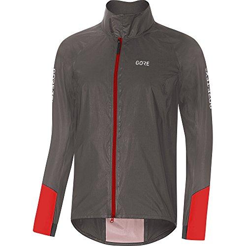 GORE Wear C5 Herren Fahrrad-Jacke GORE-TEX SHAKEDRY, M, Grau/Rot