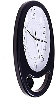 President Analog Quartz Official Designer Pendulum Big Size Wall Clock for Hall (40 X 24 cms Color : Wood and White) Made in India WF10