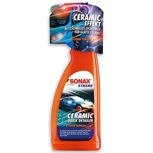 SONAX XTREME Ceramic QuickDetailer (750 ml) superschnelle Lackpflege mit Ceramic-Technologie für ein perfektes Lackfinish. Sorgt für eine extreme Glätte des Lacks | Art-Nr. 02684000