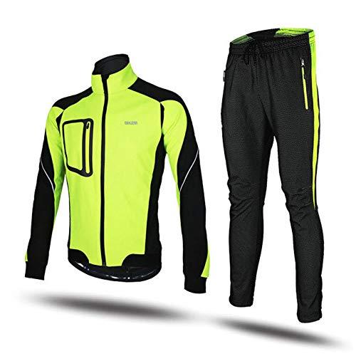 Mens Heavyweight Waterproof Rain Suit Unisex Waterproof Jacket & Trouser Suit 2 Pieces Mulit Pockets Fishing Cycling HSGAV,Yellow,3XL