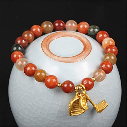 Toltec Lighting Feng Shui Bracelet Natural Fu Lu Shou Hoe Dustpan Ingot Bangle Good Luck Zhao Peach Blossom Wealthy Love Amulet Bracelet for Man/Women
