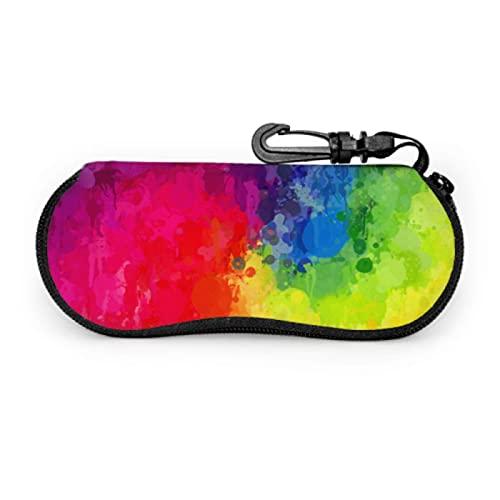 Gses Case, Bright B Spray Gafas de sol Funda suave Ultra Ligero Neopreno Cremallera Gafas Case con Mosquetón, Ultra Ligero