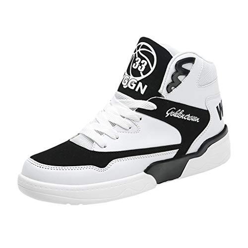 Zapatos de hombre JiaMeng-ZI Antideslizante Resistente al Desgaste Casual Zapatos Altas Mantener Caliente Zapatillas de Skateboard Suaves Cómodas Zapatillas de Baloncesto