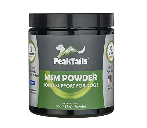 Kala Health PeakTails MSM Powder for Dogs, 1 lb, Hip and Joint Support Supplement, 99.9% Pure Distilled MSM, Made in The USA