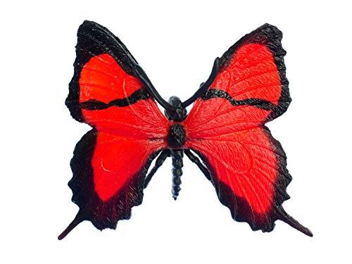 Miniblings Broche de Mariposa de Goma Animales Rojo de Primavera de la Mariposa Insecto de Vuelo