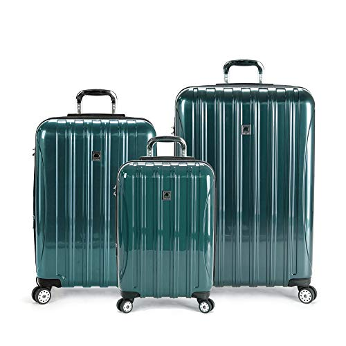 DELSEY Paris Helium Aero Hardside Expandable Luggage with Spinner Wheels, Teal, 3-Piece Set (21/25/29)
