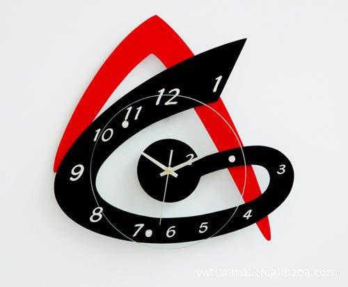 DFFV-Mode art murale horloge ultra silencieux pour enfants (sans batterie) 36,5 * 37.5 * 4.3 (cm)Cadeau de cadeau de Noël de vacances d'ami cadeau