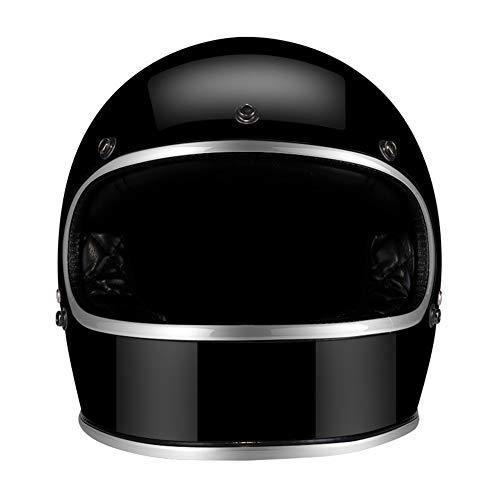 MTSBW Casco Moto Jet Moto Caschi Harley Personalità Casco Scooter Caschi per Moto Cafe Racer B, XXL