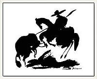 ポスター パブロ ピカソ Horse Air 額装品 ウッドベーシックフレーム(ホワイト)