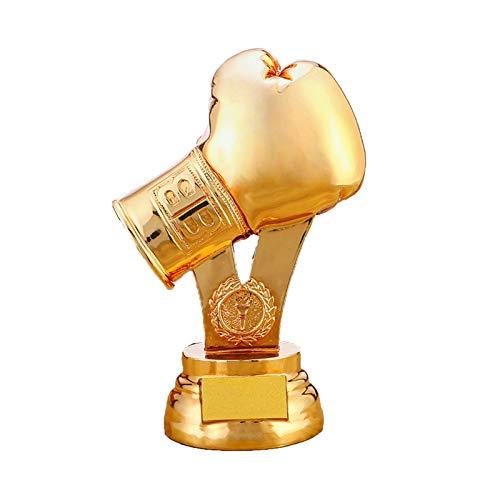 DYYPPWW Trofeo De Lucha, Lucha Deportiva, Lucha De Sanda, Premio De Guante De Boxeo Copa Campeonato, Trofeos Personalizados Dorado,Latón