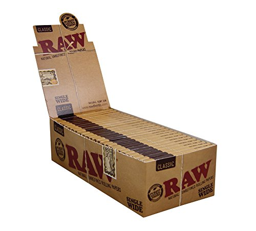 RAW Natural Single Wide Double,UNREFINED ROLLING PAPERS, 25 pack/box