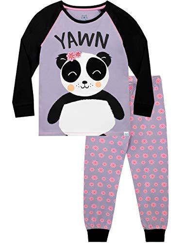 Harry Bear Pigiama per Ragazze Panda Viola 6-7 Anni