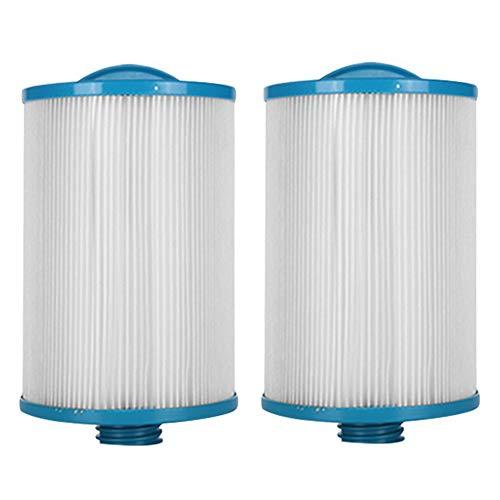 HLL Piscine Spa Remplacement Cartouche en Tissu Non tissé LX-621 Plier Papier Filtre Blanc pour de Nombreux modèles de piscines de Massage (2Pack)