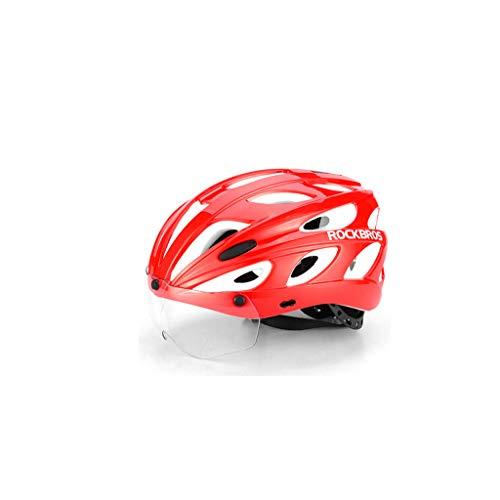 LUCKY 1 Casco de ala aérea para niño,Casco de Bicicleta con Gafas,Sombrero de Seguridad para Bicicleta de montaña para Hombres y Mujeres con Gafas