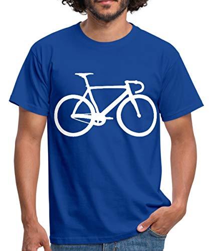 Rennrad Radsport Fahrrad Fixie Silhouette Männer T-Shirt, L, Royalblau
