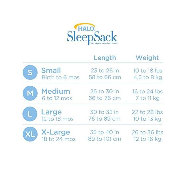 HALO Sleepsack Micro-Fleece Wearable Blanket, Cream, Large