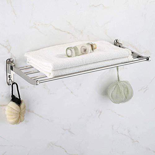 Rekje Handdoek Rack Badkamer Accessoires Handdoek Rack Muur Enkele Laag Handdoek Rack RVS Rail Handdoek 40-80 cm (Maat: 40 cm) 70 cm.