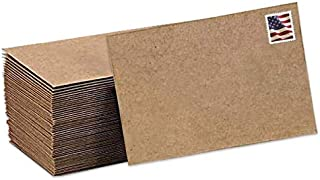 Kraft Mini Envelopes Brown Kraft Envelopes for Gift Cards and Business Cards (5