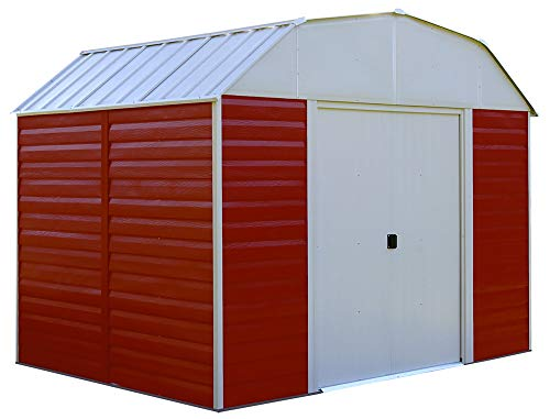 Arrow RH108 Red Barn 10-Feet by 8-Feet Steel Storage Shed