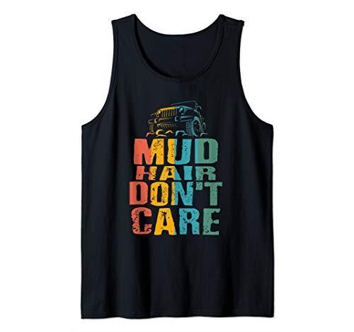 Womens Mud Run Princess Mud Hair Don't Care Team Girls ATV Tank Top