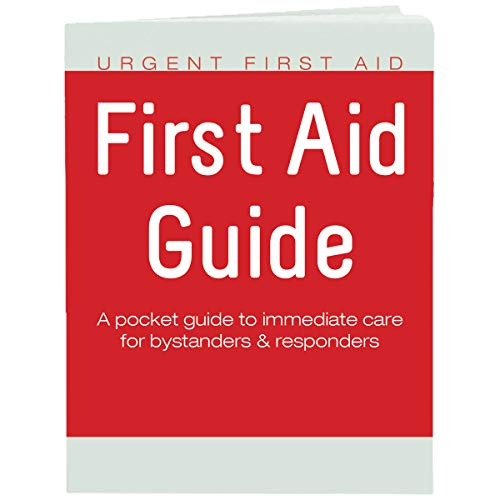 Urgent First Aid Guide with CPR & AED - 52 Pages   Full Color First Aid Booklet by Urgent First Aid™ complies with OSHA & New ANSI Guidelines, Pocket Guide