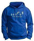 Disc Golf Gift I Live for Disc Golf Heartbeat Heart Premium Hoodie Sweatshirt Large Royal