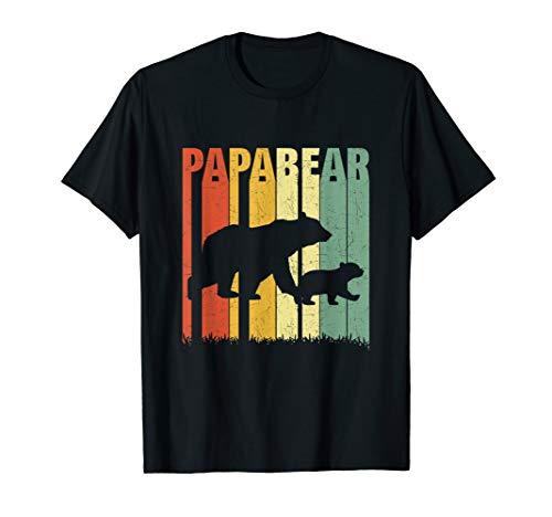 Herren Vintage Papa Bär Baby Bär Vatertag Xmas Geschenk Retro Daddy T-Shirt