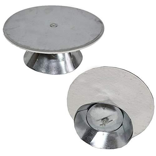 Kaminverschluss verstellbar 100mm - 160mm Kaminlochdeckel Lochdeckel aus verzinktem Stahl, feueraluminiert (FAL), Kaminverschluss mit Isolierungsplatte, Ofenkappe mit Spreiztrichter zur vielseitigen Benutzung, Ofenlochdeckel für Rohre