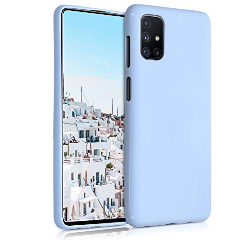 kwmobile Hülle kompatibel mit Samsung Galaxy M51 - Hülle Silikon - Soft Handyhülle - Handy Hülle in Hellblau matt