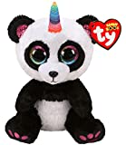 Ty UK Ltd 36307 Paris Panda W/Cuerno - Peluche Beanie Boos, Multicolor, 15 cm
