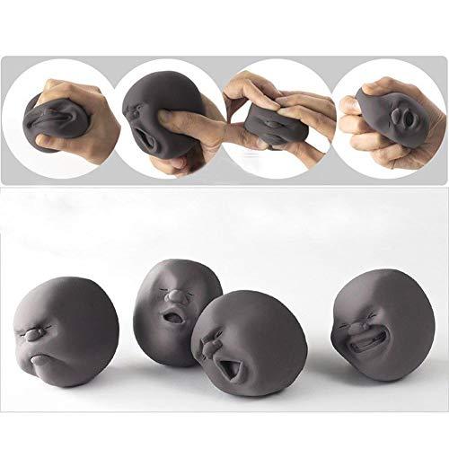 EQLEF® Anti stress spielzeug Lustige Neuheit-Geschenk der japanischen Gadgets Silikon Vent menschliches Gesichts-Kugel Anti-Stress-Scented Caomaru Toy Geek Gadget Vent Spielzeug 1pcs