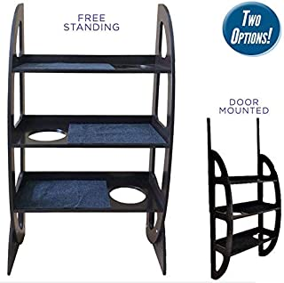 Penn Plax Cat Walk Contemporary 2-in-1 Jungle Gym - Free Standing or Door Mounted