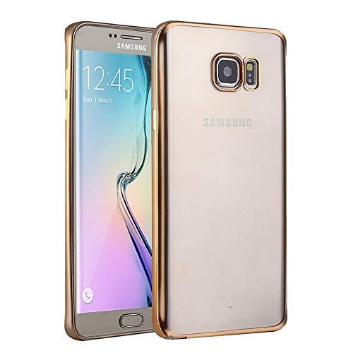 LLLi-ES Accesorios Móvil para Galaxy For Galaxy S6 Edge / G925 Funda Protectora de TPU galvanoplastia (Color : Gold)