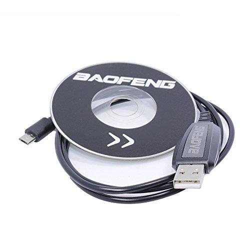 WOVELOT BF-T1 Accesorios Cable de programacion USB + Firmware de CD para BAOFENG BF-T1 Mini Walkie Talkie BF-9100 Radio movil BFT1