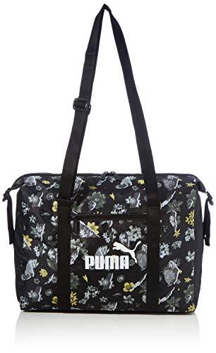 PUMA WMN Core Seasonal Duffle Bag Bolsa Deporte, Mujer, Black/AOP, OSFA