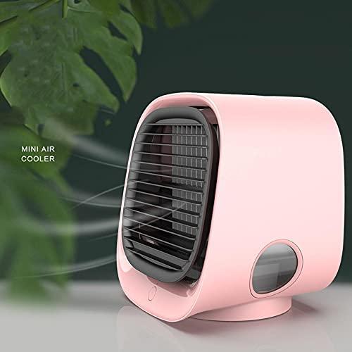 Mini Desktop Air Cooler Home Office Piccolo Ventilatore di Aria Condizionata USB Umidificazione Ventola di Raffreddamento Ad Acqua Rosa
