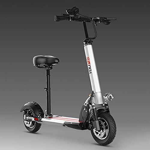 Plegable E-scooter Con Asiento Desmontable,Patinete Electrico Adulto,Doble Sistema De Frenado Pantalla LCD,Carga...