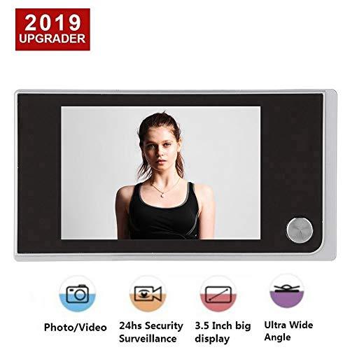 ASHATA Digitaler Türspion, 3.5 Zoll LCD Farbbildschirm Digital 120 Grad Weitwinkel Türkamera,Digitale Türspion-Kamera Viewer Foto visuelle Überwachungskamera für Türstärke von 35-100mm