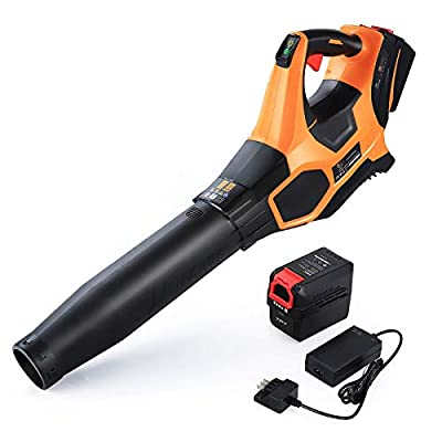 Duro 40V MAX 600 CFM Cordless Leaf Blower- 4.0Ah Lithium-Ion Battery and Charger Included- Turbo 185 MPH Variable Speed Electric Leaf Blower