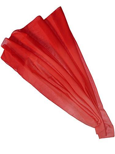 Harrys-Collection Damen Herren Baumwolltuch in vielen Farben 100 x 100 cm, Größen:Einheitsgröße, Farben:rotverlauf