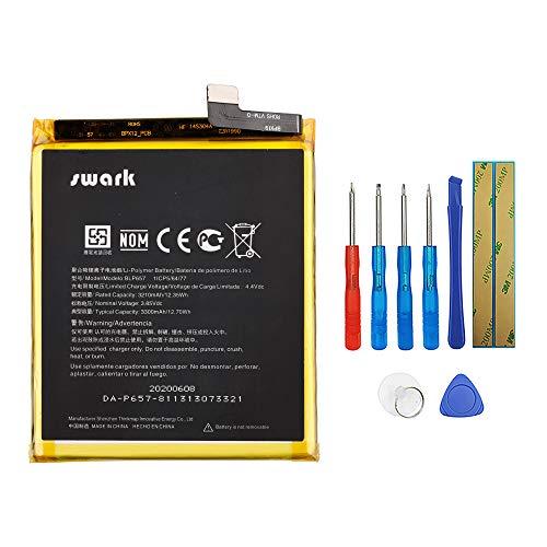 Swark Batería BLP657 compatible con OnePlus 6 One Plus 6 A6000, A6003 con herramientas.