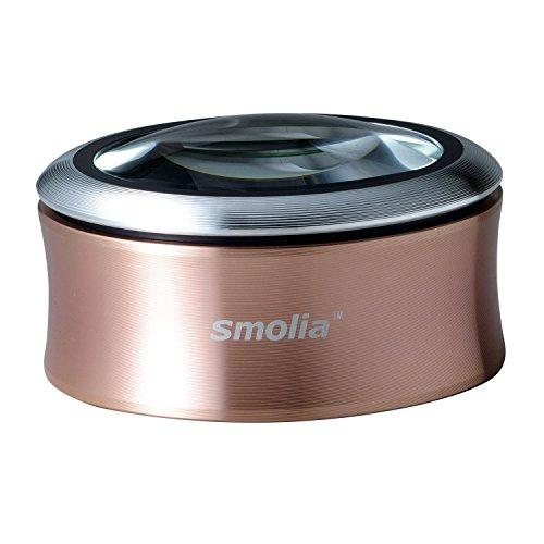 3R スリー・アールシステム 拡大鏡 充電式デスクルーペ [LED拡大鏡smoliaXC] レンズ倍率約3倍 3R-SMOLIA-XCGD ゴールド