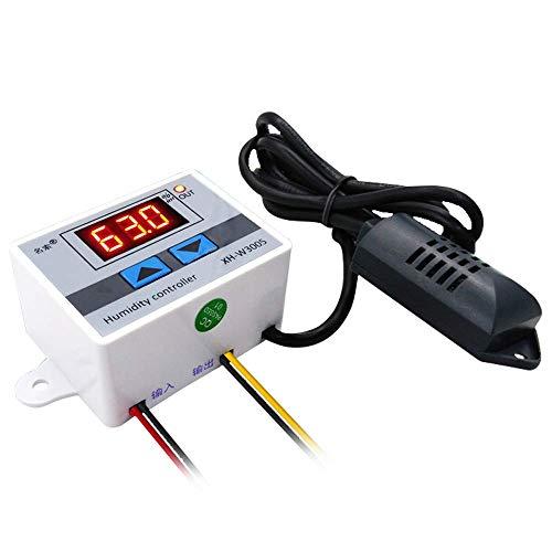 DollaTek AC 220V Multifunktionaler, praktischer, hochpräziser digitaler Feuchtigkeitsregler Hygrometer-Schalter 0~99{f647b680aacc32dcd4fb6f0c0fda74730117ea7191f08e4a42c3587e6222b282} Relative Luftfeuchtigkeit Hygrostat mit Sensor