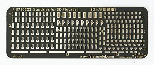 ファイブスターモデル 1/700 3Dフィギュア用PE製小物 No.1 ライフル、手旗 担架 ウッドブラシなど プラモデル用パーツ FSM710223