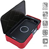 Phone Sanitizer, Cellphone Sterilizer with Dual UV Light, Wireless Charger Disinfector Case for iPhone, Android, Portable Cleaner Box for Keys TV Remote Jewelry Earphones Kid's Teether Black