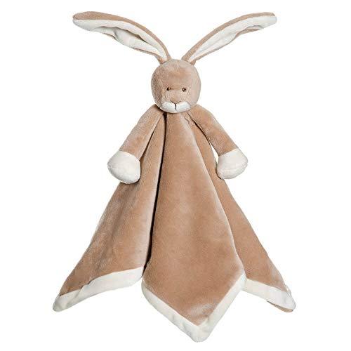 Teddykompaniet 4067 Diinglisar - Manta de seguridad para bebé conejo, color marrón, 35 x 35 cm, peluche de peluche, supersuave, desde el nacimiento