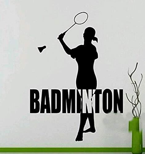 Badminton Kreative Aufkleber Wohnzimmer Schlafzimmer Studie Hintergrund Dekoration Wandaufkleber Abnehmbare Vinyl 57X78 CM