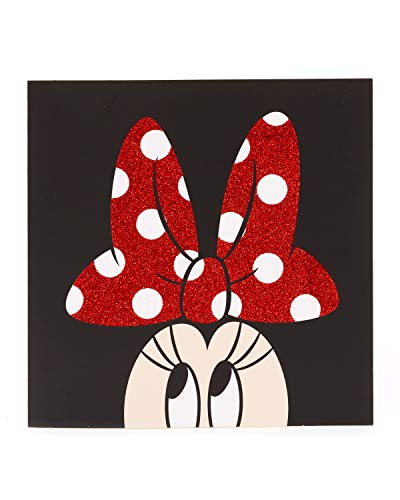 Disney Geburtstagskarte – Geburtstagskarte für Sie – Geburtstagskarte für Damen – modernes Minnie Maus Design – rotes Glitzer-Finish