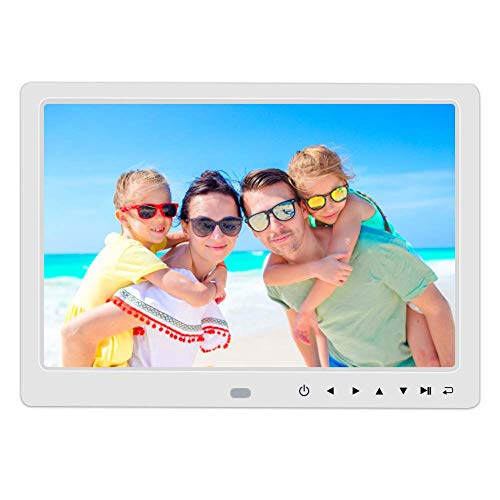 Accreate 12 Inch 1080P HD Digital Photo Frame with Remote Control Support 32G SD and USB for Pictures and Videos White EU Plug Drives Electronics Features Flash USB