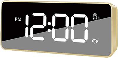 JZTRADING Reloj Pared Digital Reloj Despertador proyector Reloj de ...